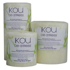 iKOU De Stress Candles with essential oils